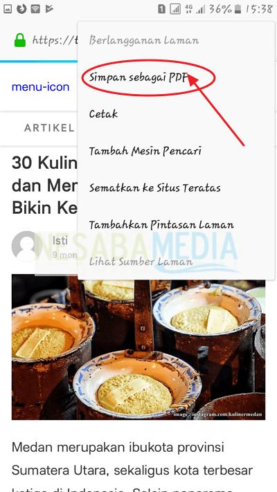 klik save as PDF