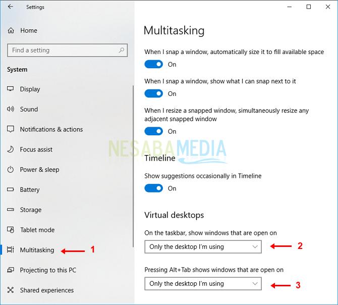 cara 3 - pilih multi tasking
