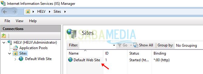cara 6 - default web