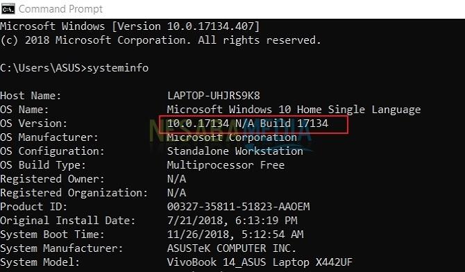 Cara Mengetahui Windows 10 Build