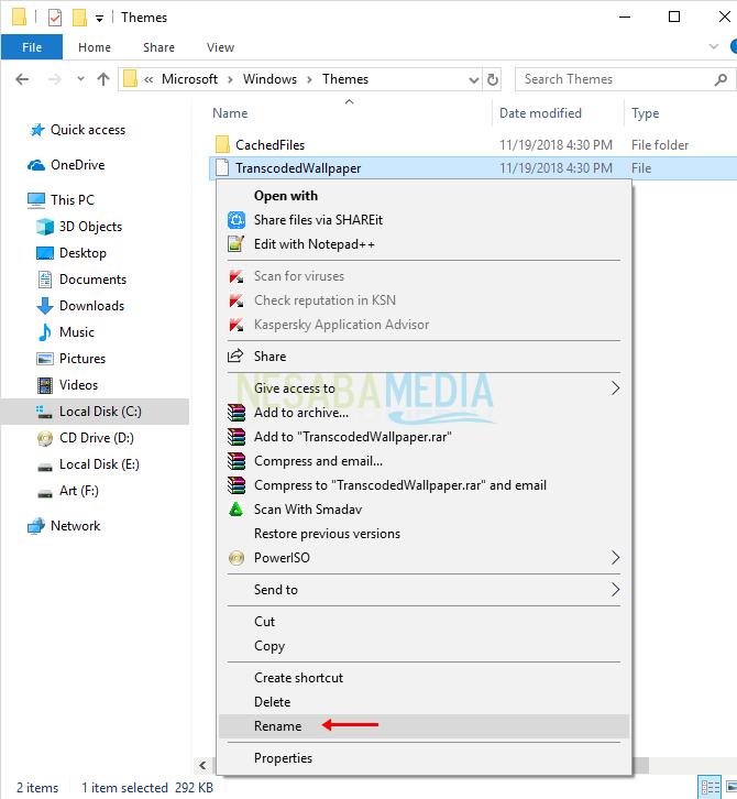 langkah 2 - cara meningkatkan kualitas gambar desktop background di Windows 10
