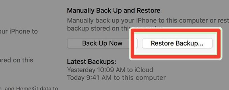 klik restore backup