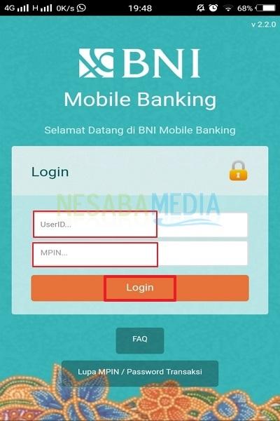 Cara Transfer Uang Melalui Mobile Banking BNI