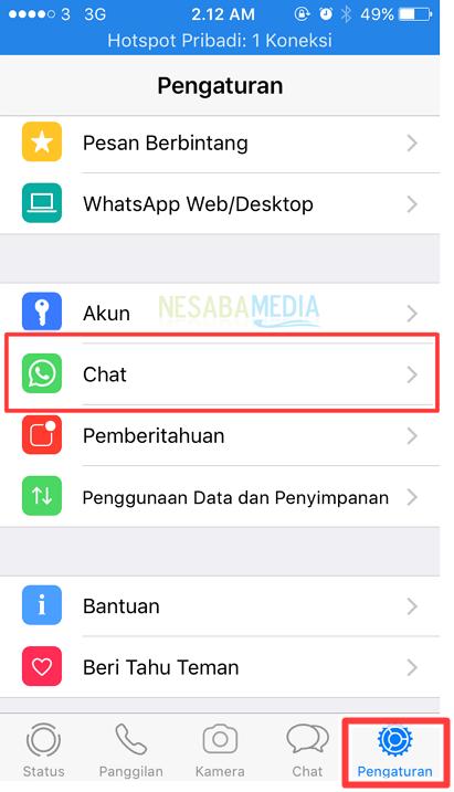 pilih dan tekan chat