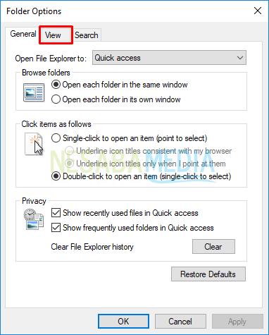 4 - pilih tab view