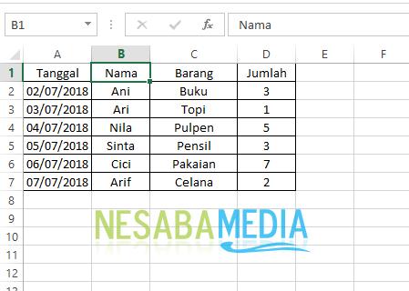 data tabel