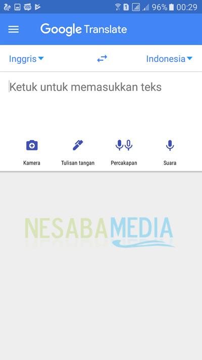 step 2 - cara menggunakan Google Translate secara offline
