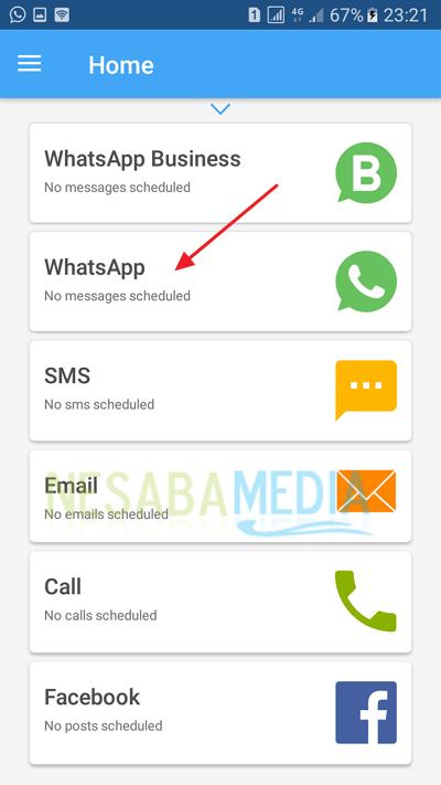 sentuh whatsapp