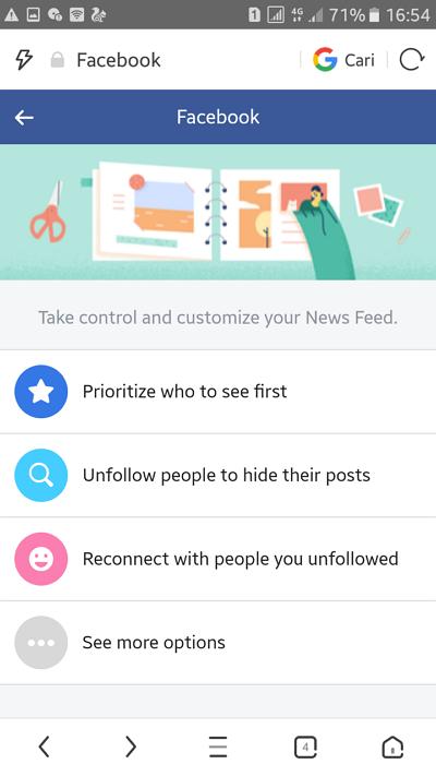 cara mengatur prioritas News Feed di Facebook