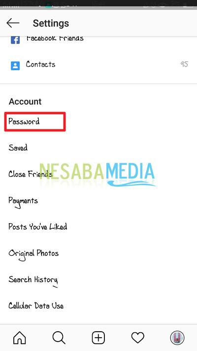 klik password