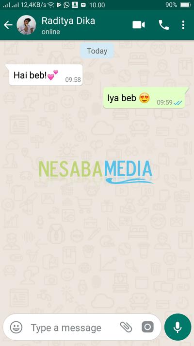 cara membuat chat palsu di Whatsapp