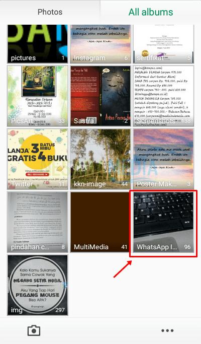 cara 1 - pilih folder whatsapp image