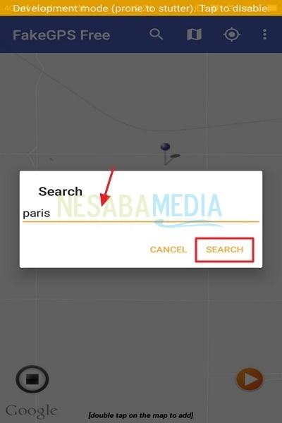 cara memalsukan lokasi di Android