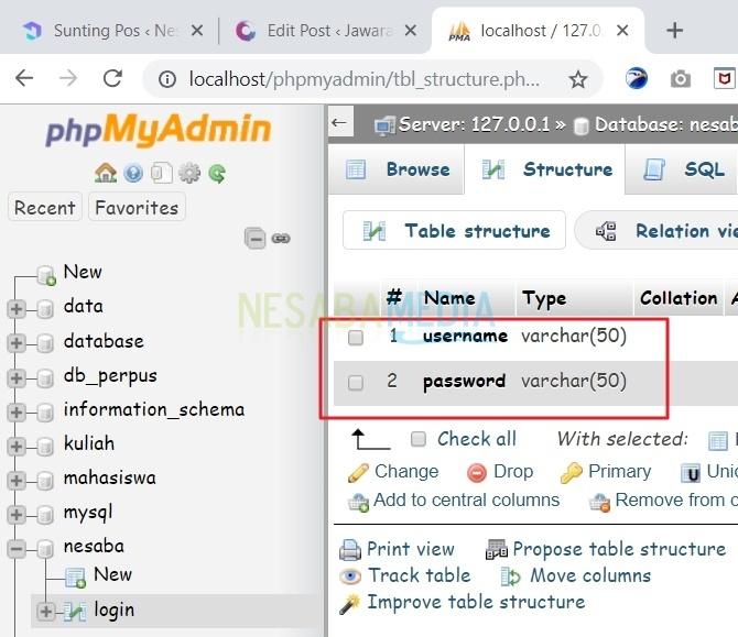 cara membuat database mysql di phpmyadmin dengan xampp