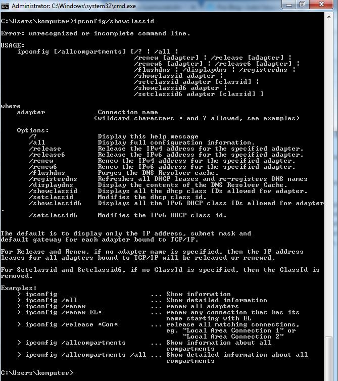 fungsi ipconfig