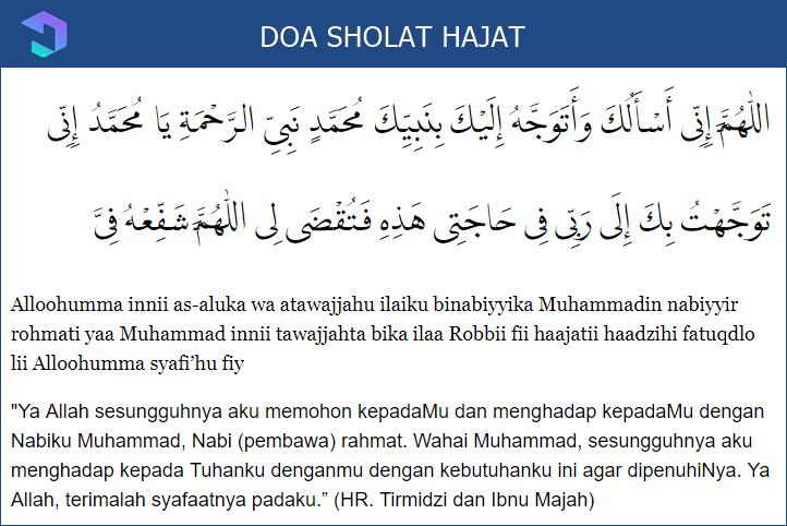 Bacaan Sholat Hajat