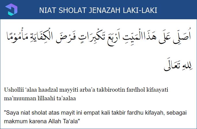 Lafadz Niat Sholat Jenazah Laki-Laki
