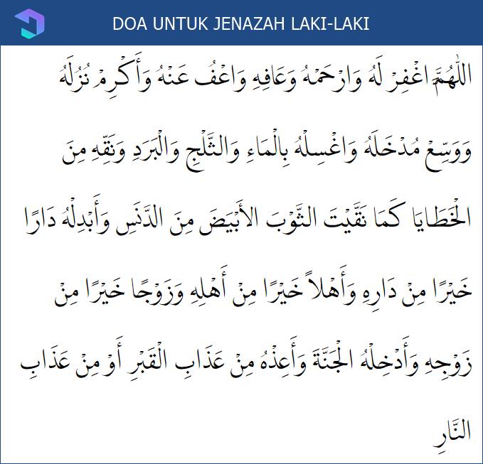 Doa Sholat Jenazah Laki-Laki