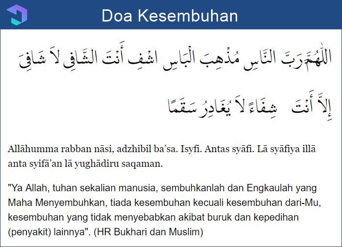 Doa Kesembuhan untuk Orang Sakit