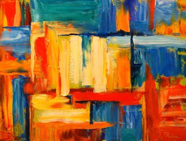 contoh aliran abstraksionisme