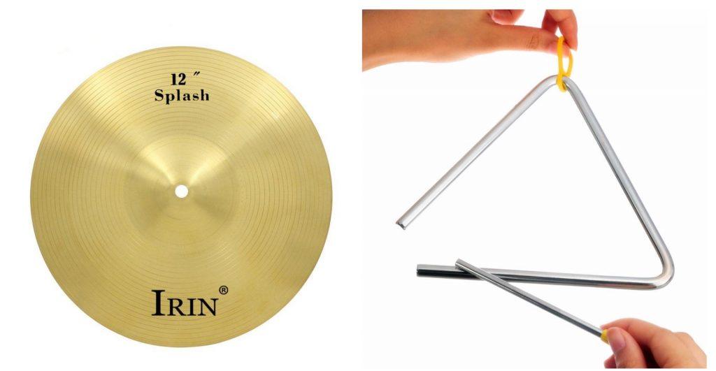 alat musik pukul simbal dan triangle