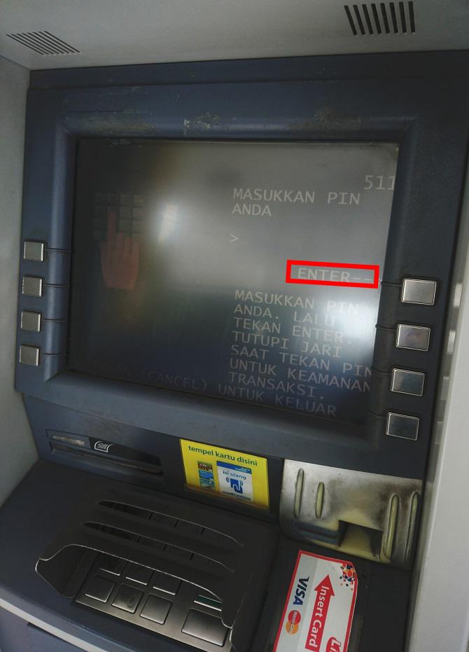 Cara Ambil Uang di ATM Mandiri - Masukkan Password