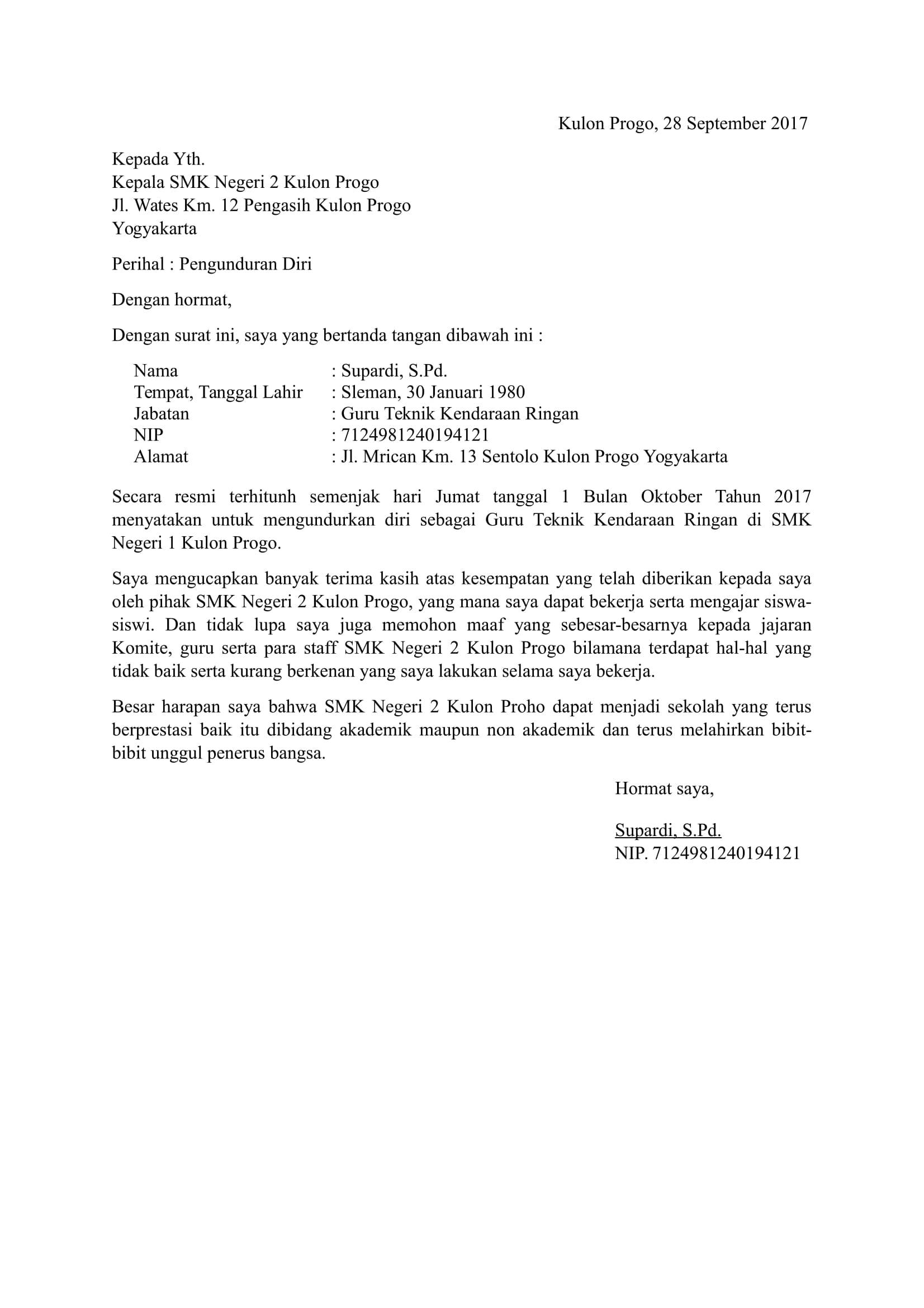 Contoh Surat Balasan Pengunduran Diri Dari Perusahaan ...