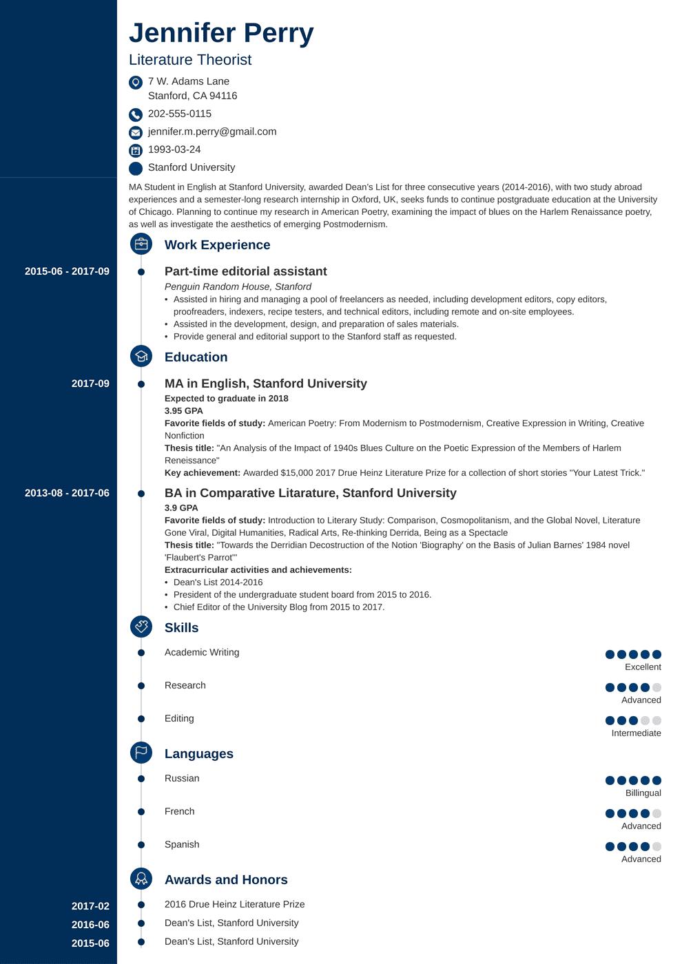10+ Contoh CV Lamaran Kerja yang Baik & Menarik HRD [+File Doc] on