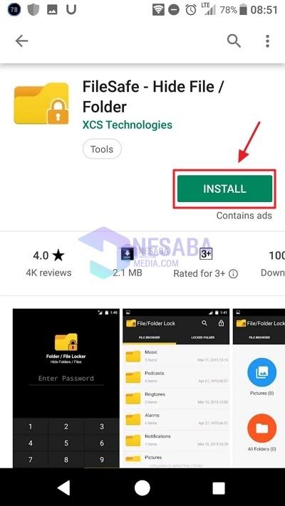 Cara Mengunci Folder di HP Android dengan FIleSafe