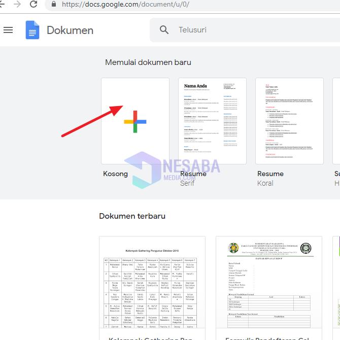 cara membuat google docs untuk pemula