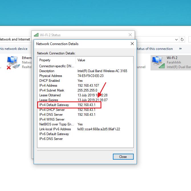 cara mengetahui ip address wifi / router untuk pemula