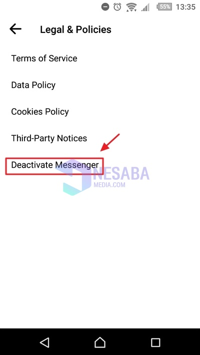 how to easily disable messenger