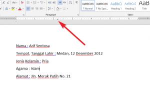 Cara Merapikan Titik Dua di Microsoft Word