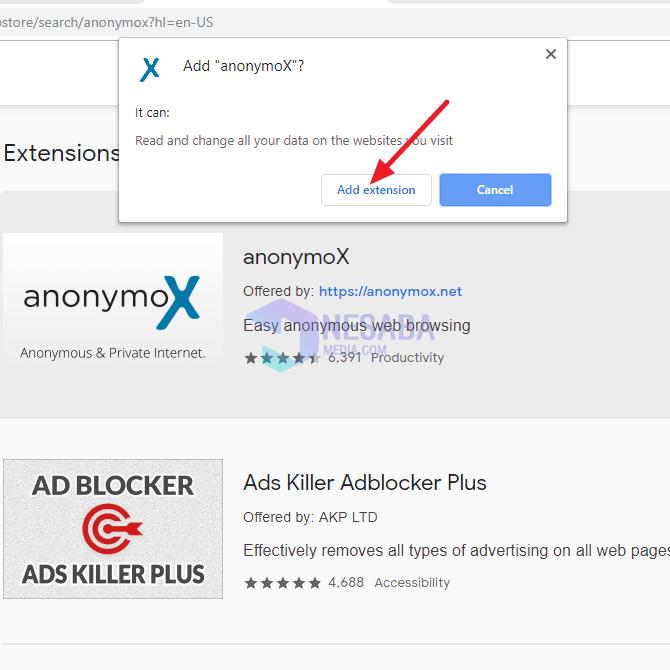 begini cara mengganti ip address ke negara lain dengan anonymox