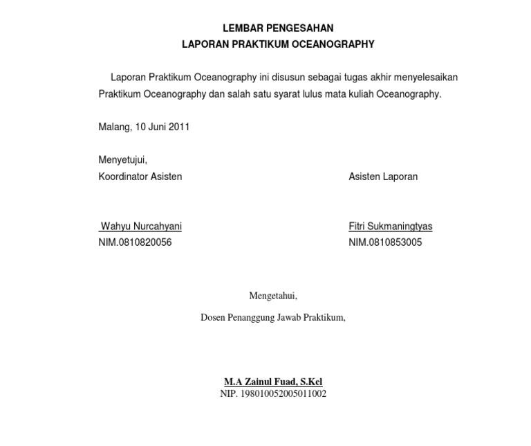 Halaman Pengesahan Proposal Skripsi
