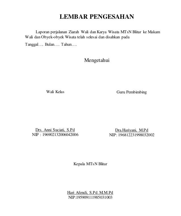 10+ Contoh Lembar Pengesahan Proposal, Laporan Dll [+File Doc]