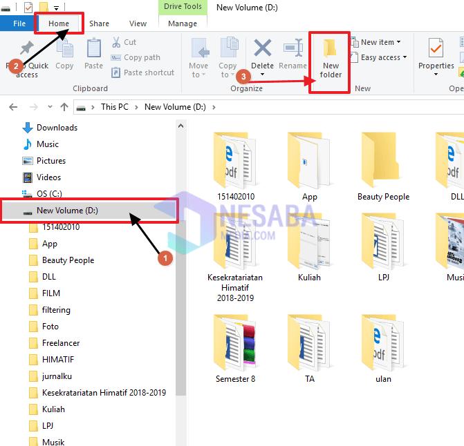 Cara Membuat Folder Baru di Windows lewat File Explorer