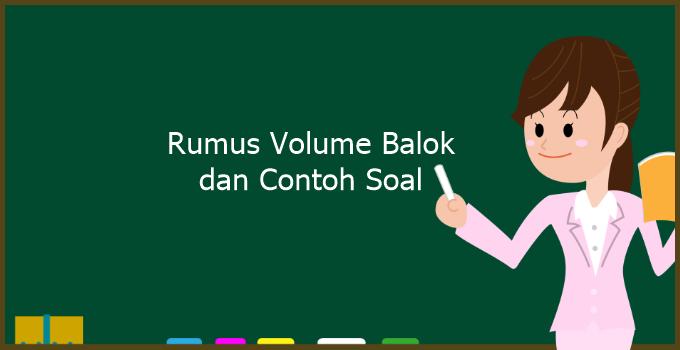 Rumus Volume Balok