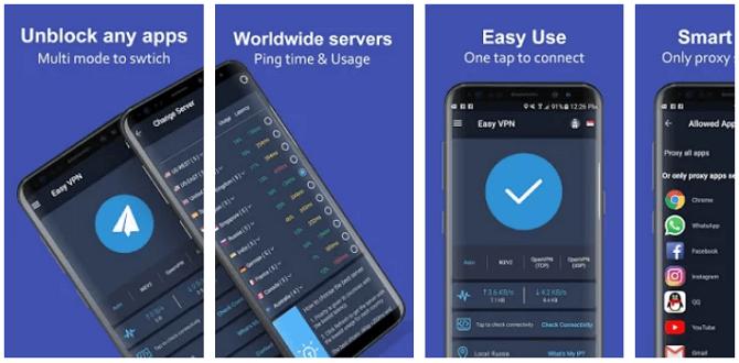 Aplikasi VPN Terbaik Android - Easy VPN