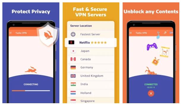 Aplikasi VPN Terbaik Android - Turbo VPN