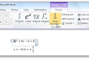 Cara Mengaktifkan Equation di Word