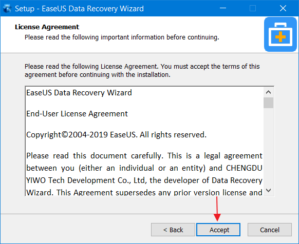 recovery with easeus data recovery 3