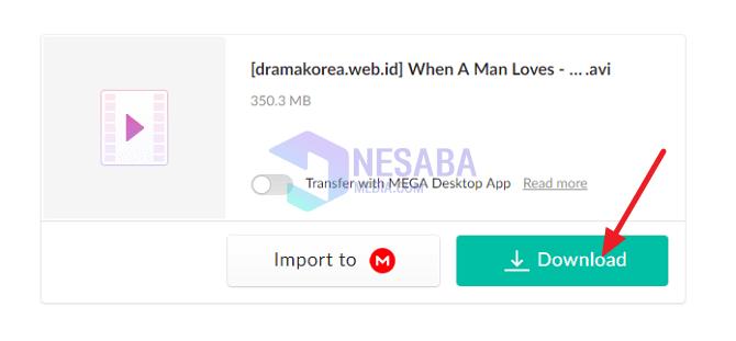 cara download file di Mega