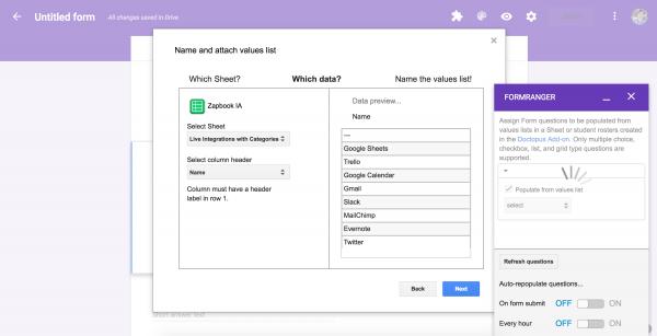 Lack of Google Form