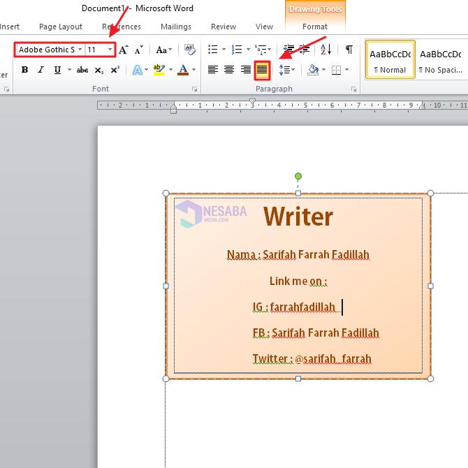 Tutorial Cara Membuat ID Card di Microsoft Word