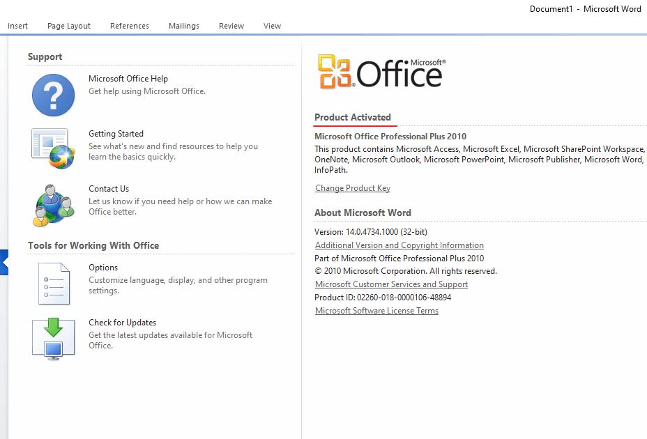 Aktivasi Office 2010 Langkah 7