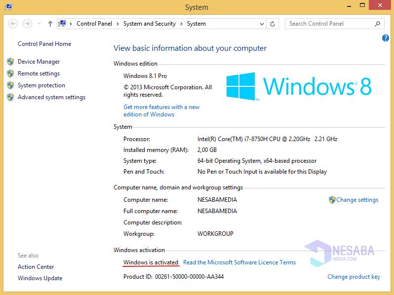 Aktivasi Windows 8 Langkah 7
