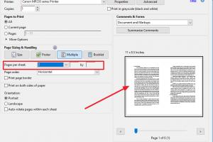 cara print PDF 1 lembar 2 halaman