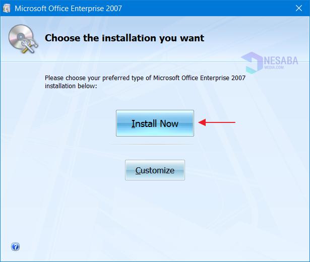 Cara Install Office 2007