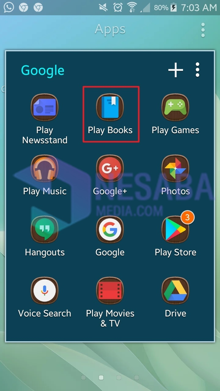 cara download buku di Google Book lewat Android